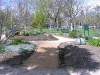 Davis Sunrise Rotary & Alpha Phi Omega build new Vegetable Garden pathway