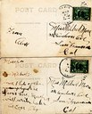 Postal Sides of the Two Cards