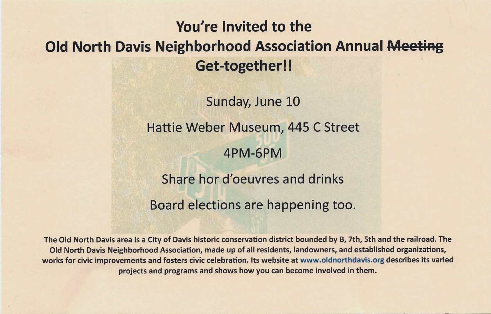 Flyer For Annual Meeting Distributed to Old North Doors