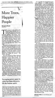 """More Trees, Happier People,"" A New York Times Op-ed (11-16-18)"