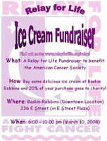 Red Cross Relay for Life Baskin Robbins Fundraiser