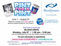 Upcoming Blood Drive: July 6th & Annual Meeting June 18th